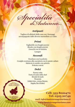 menu d'autunno